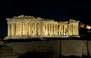 Parthenon_night_view
